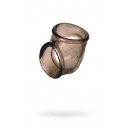 Ерекційне кільце на пеніс Toyfa XLover, Термопластичний еластомер (TPE), чорний, 3,5 см