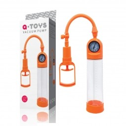 Помпа для пеніса Toyfa A-Toys, силікон, прозорий + помаранчевий, 20 см