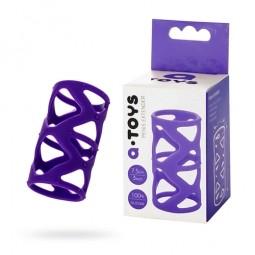 Насадка на член Toyfa A-Toys, силікон, фіолетовий, 7,5 см