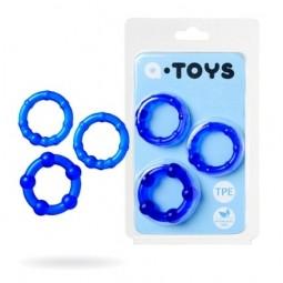 Набір кілець - Toyfa A-Toys, TPE, синій, ø 3,5 / 3/2 см