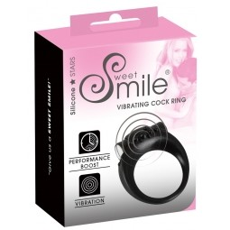 Ерекційне кільце - Sweet Smile Vibrating Cock Ring Black