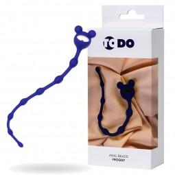 Анальний ланцюжок ToDo By Toyfa Froggy, силікон, синя, 27,4 см