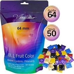 Презервативи - Vibratissimo XX ... L Fruit Color, 64 мм, 50 шт.