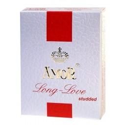 Презервативи - Amor Long Love Studded, 3 шт.