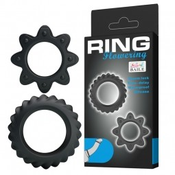 Ерекційні кільця - Ring Flowering Black, 2 шт.