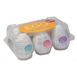 Набір мастурбаторів - TENGA Egg Variety 1, 6 шт.