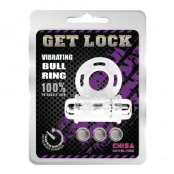 Ерекційне віброкільце - Get Lock Vibrating Bull Ring Clear