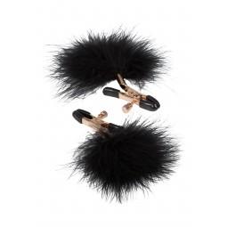 Затискачі для сосків - CalExotics Entice Accesories Feather Nipplettes Black