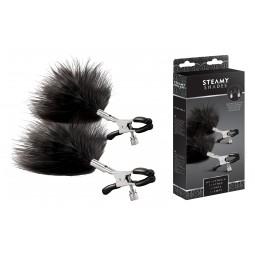 Затискачі для сосків - STEAMY SHADES Adjustable Feather Nipple Clamps