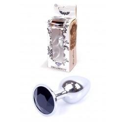 Анальна пробка - Jewellery Silver Plug Black