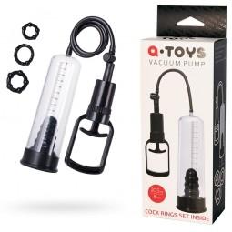 Помпа для пеніса Toyfa A-Toys, PVC, Чорний, 20,5 см