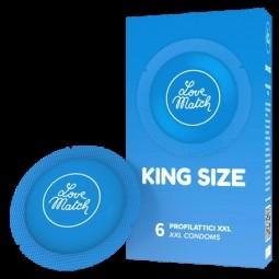 Презервативи - King Size, 60 мм, 6 шт.
