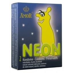 Презервативи - Amor Neon, 2 шт.
