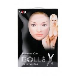 Лялька надувна Liliana з реалістичною головою, Toyfa Dolls-X, блондинка, з двома отворами, кібер вст