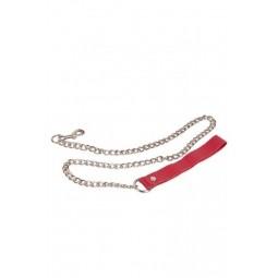 Повідець Leather Leash, RED