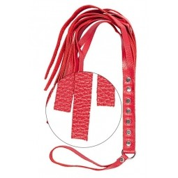 Флогер S & M Fancy Leather Floger, RED
