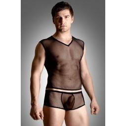 Комплект білизни - Net set, shirt and thong, чорний