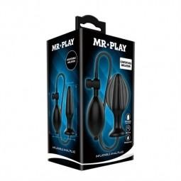 Віброяйце - Mr.Play Inflatable Butt Plug Black