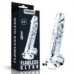 Фалоімітатор - 7.5''  Flawless Clear Dildo Clear