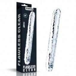 Фалоімітатор - 12''  Flawless Clear Double Dildo Clear