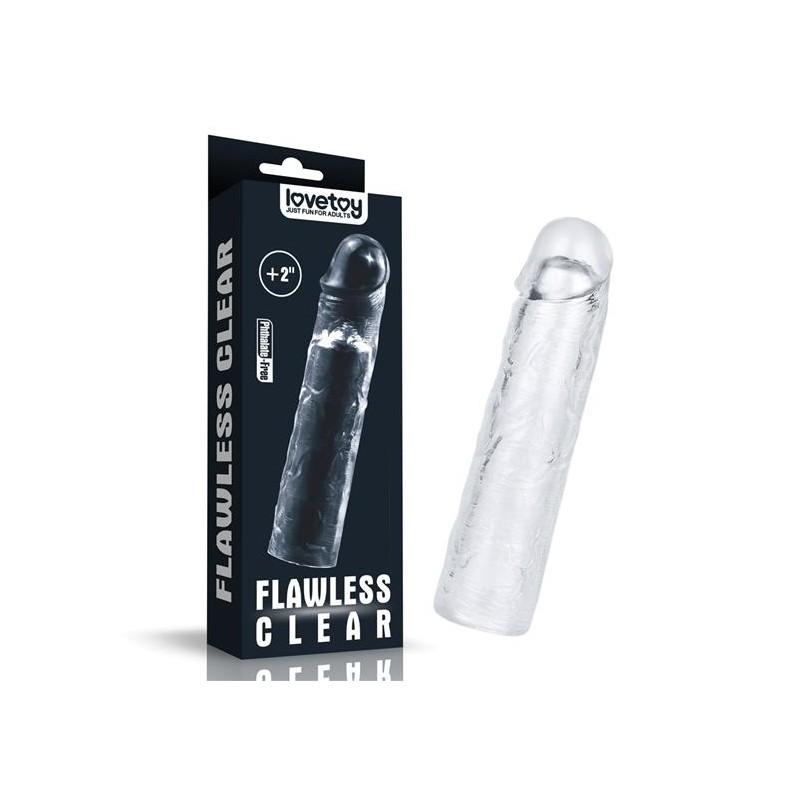 Насадка - Add 2''Flawless Clear  Penis Sleeve Clear