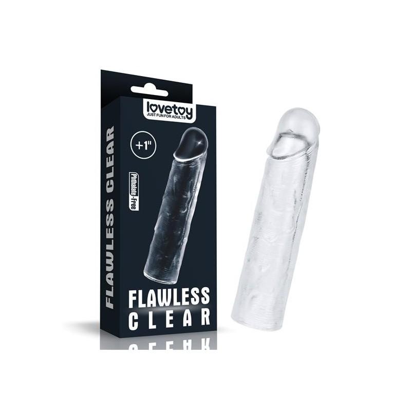 Насадка - Add 1''Flawless Clear  Penis Sleeve Clear